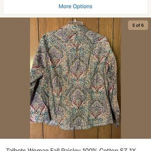 Talbots Fall Paisley Top - 1x